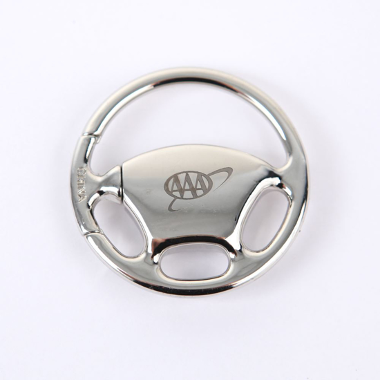 Picture of Silver Steering Wheel Keychain