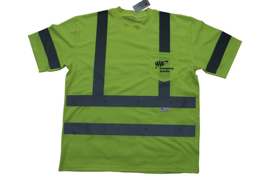 Picture of Reflective Striped Safety T-Shirt - ANSI3