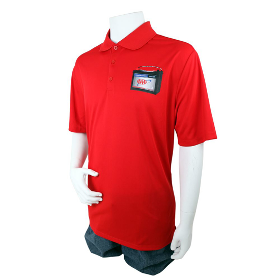 Picture of Mobile Battery Solid Color Performance Polo