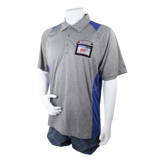 Picture of Mobile Battery Colorblock Heathered Polo
