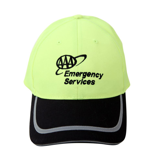 Picture of Safety Black Brim Reflective Cap