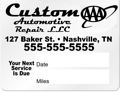 """Picture of Service Reminder Stickers - 2.5"""" x 2"""""""