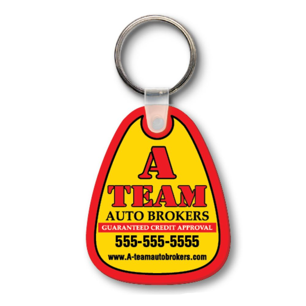 Picture of Soft Vinyl Key Tags - Full Color Imprint on 1 side
